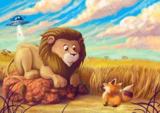 La volpe e il leone - storia breve per bambini