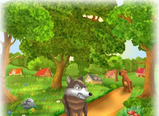 Il lupo e il cane - Storia breve da leggere ai bambini